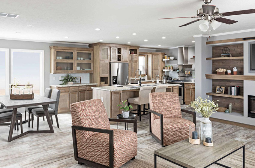 Trendy design in manufactured home