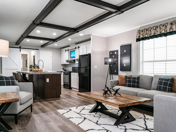 Stylish manufactured home interior