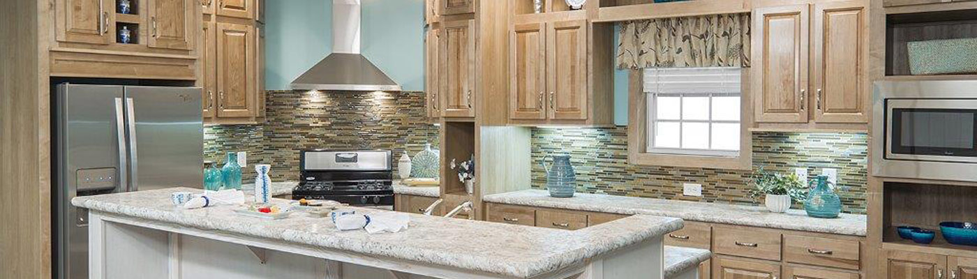 Clayton kitchen with stone backsplash